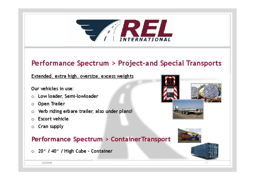 Company Presentation – REL International GmbH – Ihr